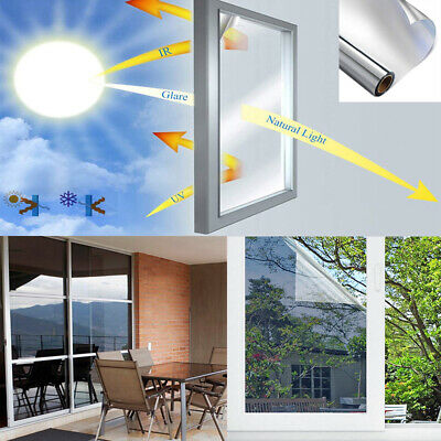Reflective One Way Mirror Window Film Mirrored Privacy Frosted Glass Stickers • 8.36£