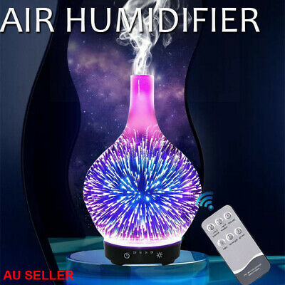 AU32.22 • Buy Devanti Aromatherapy Diffuser 3D Aroma Essential Oils Ultrasonic Air Humidifier