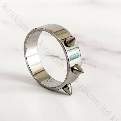 Mens Womens Silver Tribal Gothic Bikers Ring Band Spike Punk Emo Gift  • 4.99£