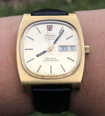 """AU899 • Buy OMEGA Electronic F 300Hz Chronometer """"Tuning Fork"""" Cal. 1260 Day Date Mens Watch"""