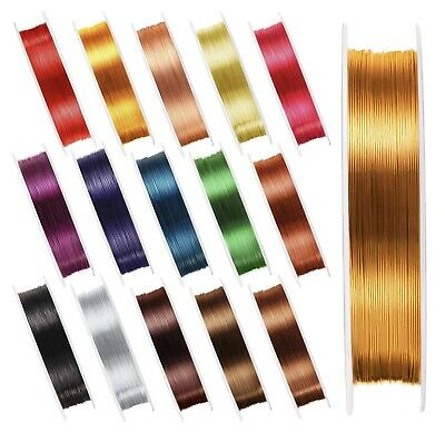 £2.99 • Buy 10x Metres 0.4mm Metallic Craft Wire For Jewellery Making - Choose Your Colour