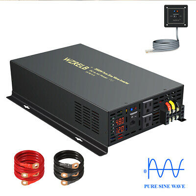 $ CDN373.64 • Buy WZRELB 48V To 120V Pure Sine Wave Inverter 3000W Solar Power Home Wire Switch RV