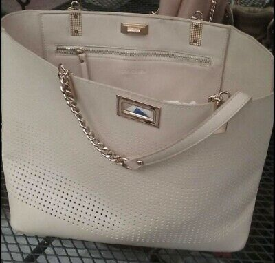 AU35 • Buy Forever New Beige/Grey Gold Chain Detail Large Bag Excellent Condition