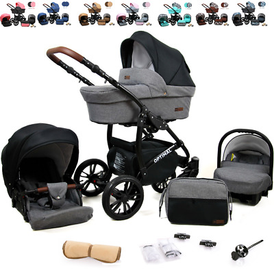 £310 • Buy Baby Pram  3 In 1 Travel System From Birth Pushchair Buggy All In One FREEBIES