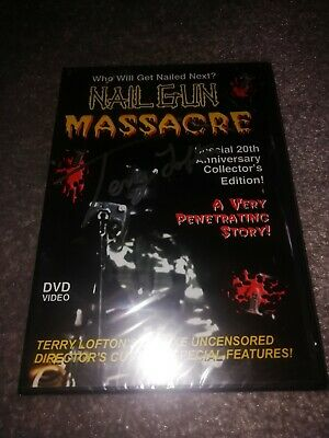 Nailgun Massacre Signed Ltd Dvd Gore Horror • 59.99£