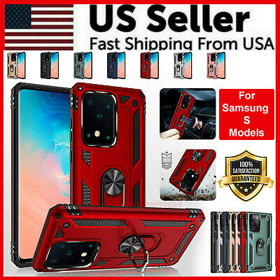 $ CDN10.83 • Buy For Samsung Galaxy S20 S10 S9 S8 Plus Case Shockproof Ring Kickstand Phone Cover