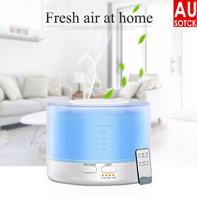 AU25.69 • Buy Aroma Aromatherapy Diffuser LED Essential Oil Ultrasonic Air Humidifier Purifier