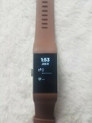 $ CDN38.55 • Buy Fitbit Charge 2 Fitness Tracker - With Charger - S/P Brown Band