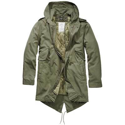 $116.66 • Buy BRANDIT M51 US FISHTAIL PARKA Military Warm Winter Quilted Lining Olive Green
