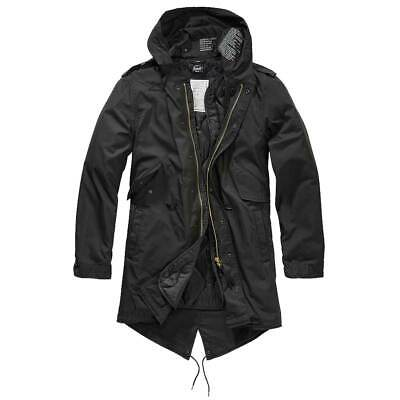 $116.66 • Buy BRANDIT M51 US FISHTAIL PARKA BLACK Military Hiking Warm Winter Quilted Lining