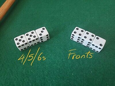 **SEE VIDEO** FREE SAMPLE Weighted Bicycle Dice Set 456s Loaded Dice Cee Lo • 459.93£