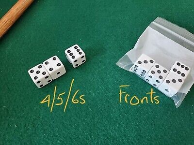 **SEE VIDEO** FREE SAMPLE Weighted 16mm Dice Set 456s Loaded Dice Cee Lo • 421.02£