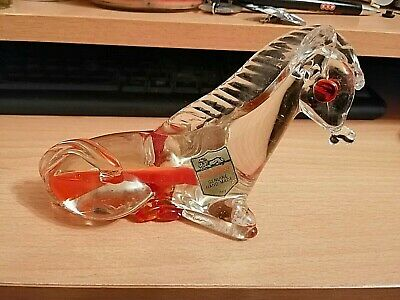 Vintage Saxony Murano Glass Horse Italy With Original Label • 16.99£