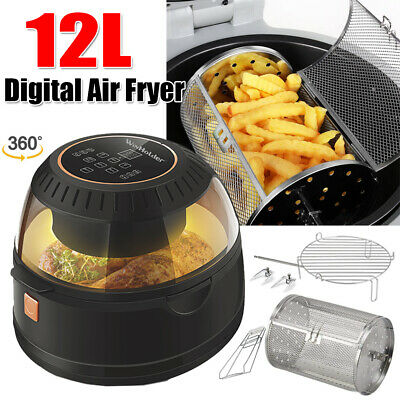 View Details 1200W Digital Air Fryer 12L W/Basket Oil Free Healthy Cooker Low Fat Food Oven • 69.99£