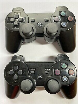 Ps3 Controller Unofficial Black Colour X2 Wireless • 17.09£