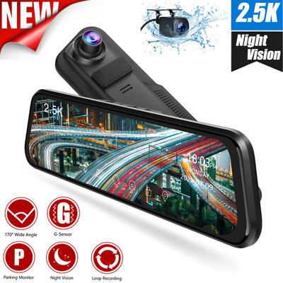 AU143.91 • Buy TOGUARD 2.5K 10  Mirror Dash Cam Front And Rear Car Video Camera Touch Screen AU