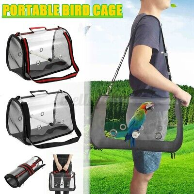 16  Parrot Bird Carrier Backpack Travel Outdoor Transport Cage Breathable Bag • 16.14£