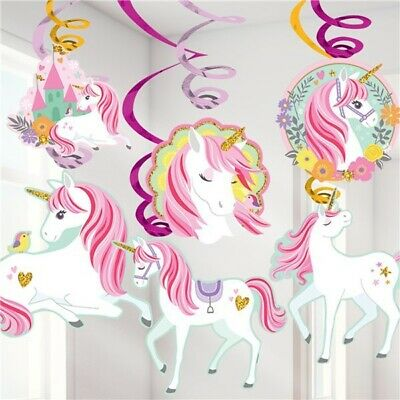 AU8.55 • Buy Magical Unicorn Hanging Swirls Decorations Hanging Decoration Party Supplies