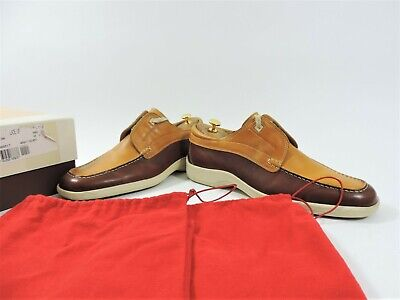 Bally Mens Shoes Tan Burgundy UK 11 US 12 EU 45 Worn Twice Only Boxed Bags  • 179£