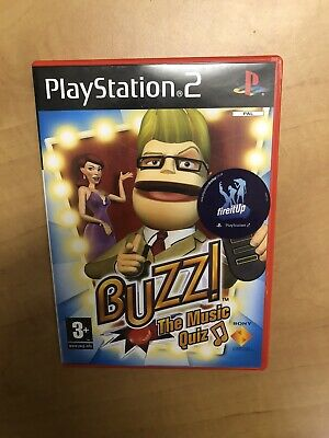 PlayStation 2 Buzz! Musical Knowledge Buzzer Game / X 4 Working Controllers /  • 25£