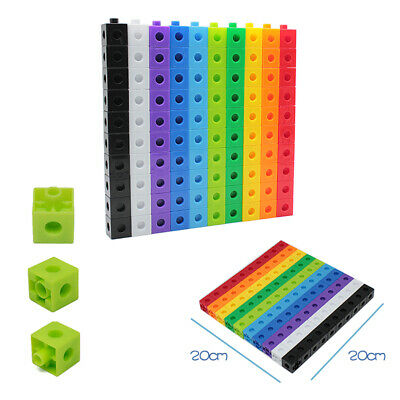 £7.99 • Buy 100 X 2cm Math Link Cubes Interlocking Snap Counting Blocks Toy Gift Early Learn