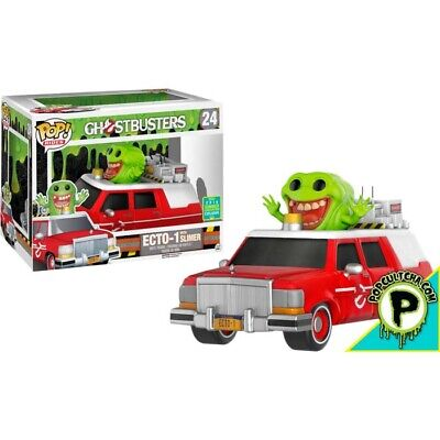 AU44.99 • Buy GHOSTBUSTERS - Slimer With Red Ecto-1 Pop! Ride Vinyl Figure (Funko) #NEW