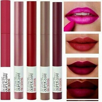 £4.49 • Buy MAYBELLINE SuperStay Ink Matte Crayon Lipstick, CHOOSE SHADE, New 24m