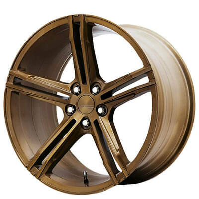 $1864 • Buy (4) 19  Staggered Verde Wheels VFF03 Brushed Gloss Bronze Rims(B44)