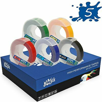 £7.59 • Buy 5 Rolls 3D Embossing Label Tape Compatible With DYMO Omega & Junior Embossers