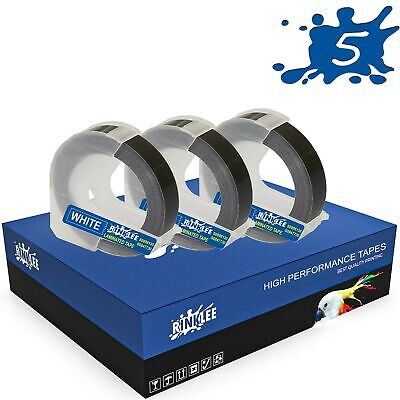 £5.99 • Buy 3 Rolls 3D Embossing Label Tape Compatible With DYMO Omega & Junior Embossers
