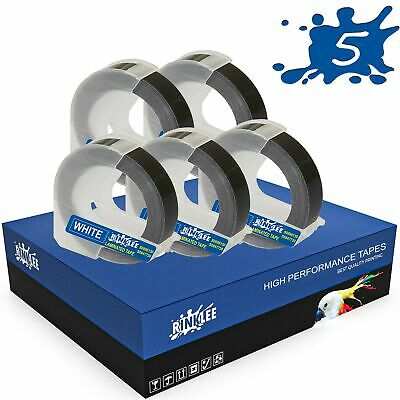 £7.44 • Buy 5 Rolls 3D Embossing Label Tape Compatible With DYMO Omega & Junior Label Makers
