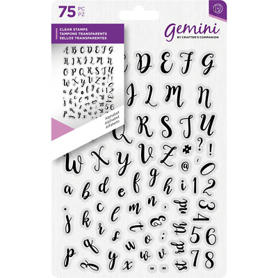 Crafter's Companion ALPHABET & NUMBERS Clear Stamps Set  • 4.99£
