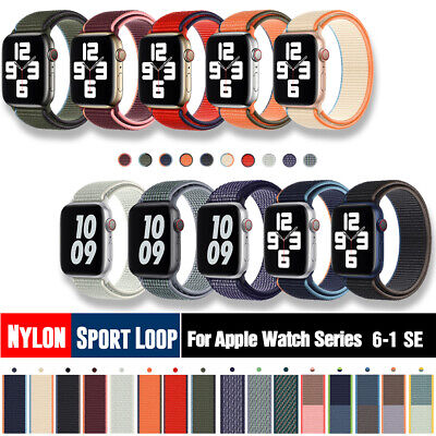 $ CDN4.95 • Buy 38/42/40/44mm Nylon Sport Loop Band Strap For Apple Watch Series 6 5 4 3 2 1 SE