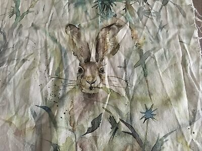 Voyage Jack Rabbit Hare Rabbit Fabric Remnant Wildlife • 11.99£