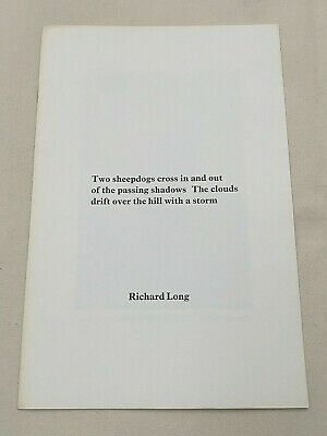 RICHARD LONG, TWO SHEEPDOGS CROSS IN AND OUT..., 1st Edition, 1971, V RARE • 450£