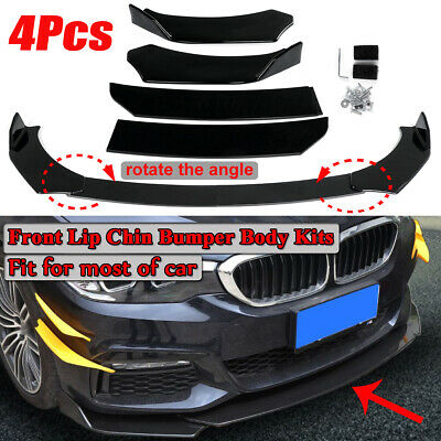 $40.84 • Buy Universal Car For Cadillac CT4 Front Bumper Lip Body Kit Spoiler