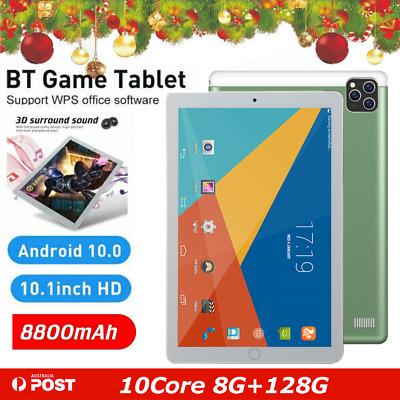 AU129.99 • Buy 10.1 Inch Android 10.0 Bluetooth Tablet PC 8+128GB WiFi 1080P Triple Camera GPS