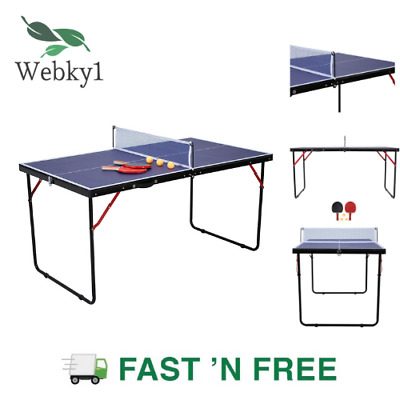 AU128.32 • Buy Portable Table Tennis Ping Pong Play Indoor Outdoor Net Bat Ball Activity Fold