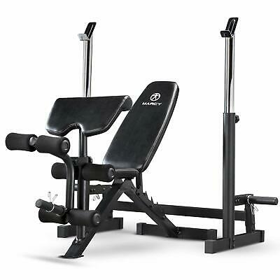 Marcy Deluxe MWB-838 Olympic Weight Bench With Squat Rack- REFURBISHED RETURN • 275£