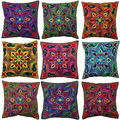 Indian Star Mandala Suzani Cushion Covers Eclectic Boho Pillow Case Gypsy 40 Cm • 5.99£