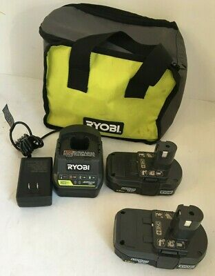 Ryobi P189-P118B 18-Volt ONE+ 1.5Ah Compact Lithium-Ion Battery & CHARGER, GR • 37.46£