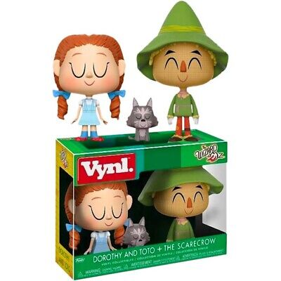 £13.23 • Buy THE WIZARD OF OZ - Dorothy & Toto + Scarecrow 4  Vynl Figure 2-Pack (Funko) #NEW