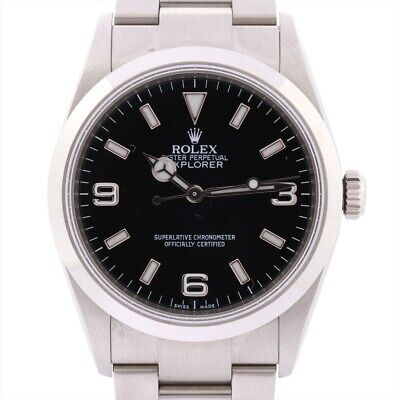 $ CDN9483.66 • Buy Rolex Explorer I 114270 Stainless Steel AT Black Dial Links2