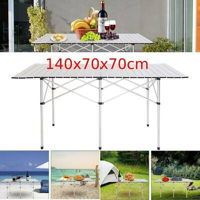 Portable Aluminum Roll Up Table Folding Camping Outdoor Indoor Picnic Heavy Duty • 33.95£