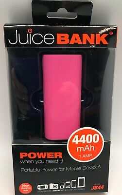 Juice Bank Portable Phone/Tablet/Ipad Charger 440 Pink • 6.99£
