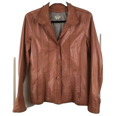 $69.99 • Buy M0851 Tailored Leather Blazer Jacket Size Small Made In Canada
