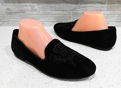 $ CDN50.25 • Buy Womens VIONIC ROMI Black Embroidered Suede Slipper Slip On Loafer Flat Shoes 9.5