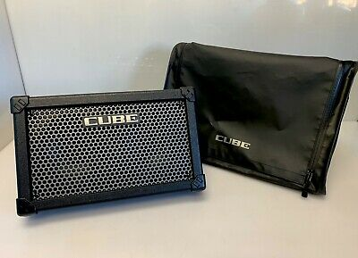 AU378.35 • Buy Roland CUBE Street CUBE-STA Battery-Powered Stereo Amplifier, Black W/Carry Bag