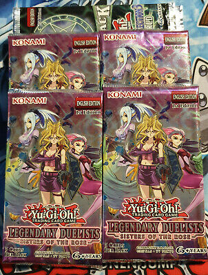 YuGiOh! 4x Legendary Duelists: Sisters Of The Rose Booster Packs 1st! Sealed! • 11.50£