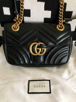 AU1600 • Buy Authentic GUCCI GG Marmont Mini Matelassé Shoulder Bag